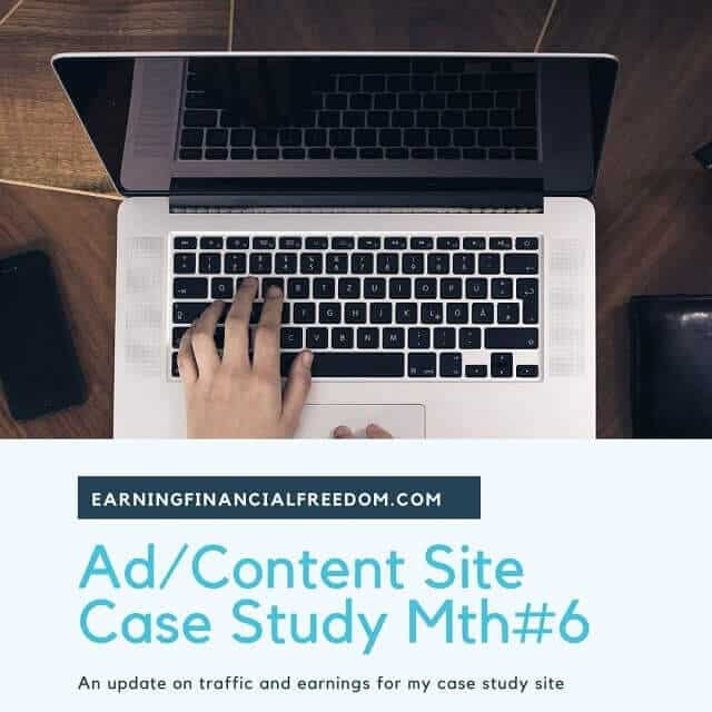 Ad content site case study month 6