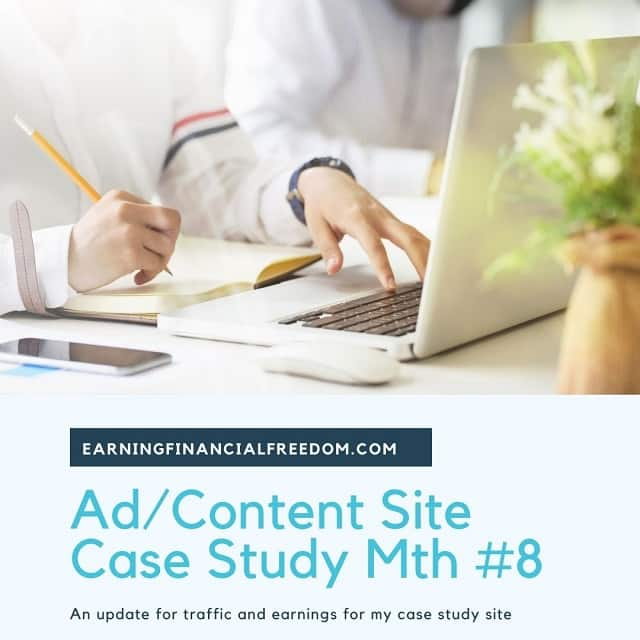 Ad content site case study month 8