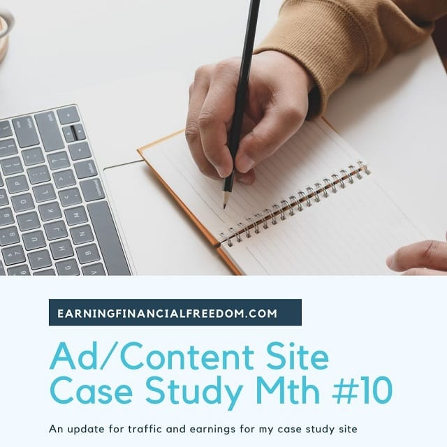 AdSense Content Site Case Study Month 10 Update